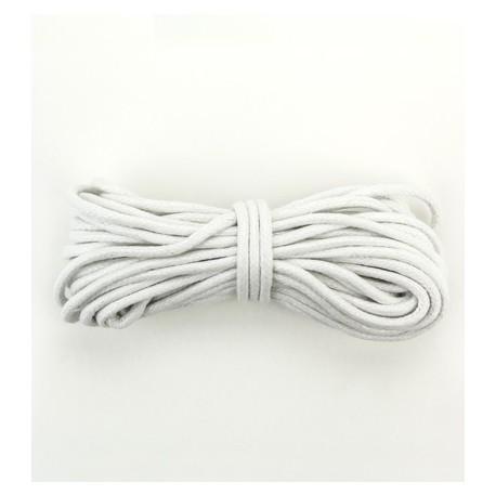 Algodón encerado 2mm Blanco