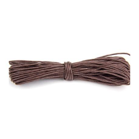 Algodón encerado 0,5mm Marrón oscuro