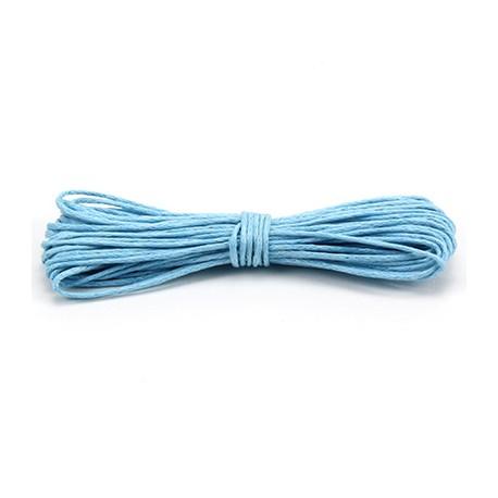 Algodón encerado 1mm Azul cielo