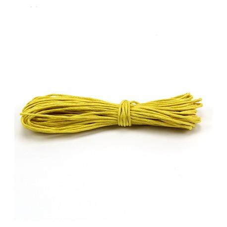 Algodón encerado 1mm Amarillo