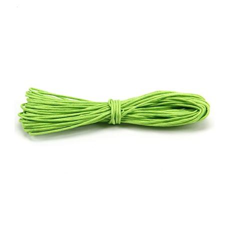 Algodón encerado 1mm Verde manzana