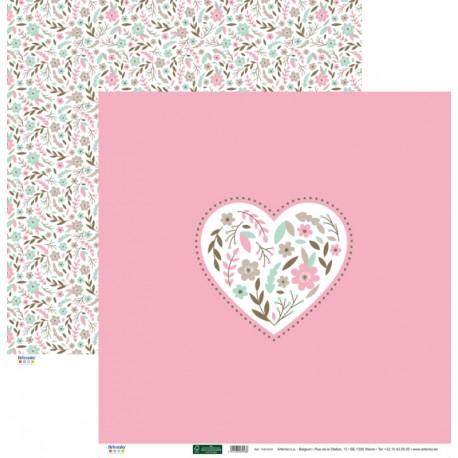 Corazón Bordado Rosa