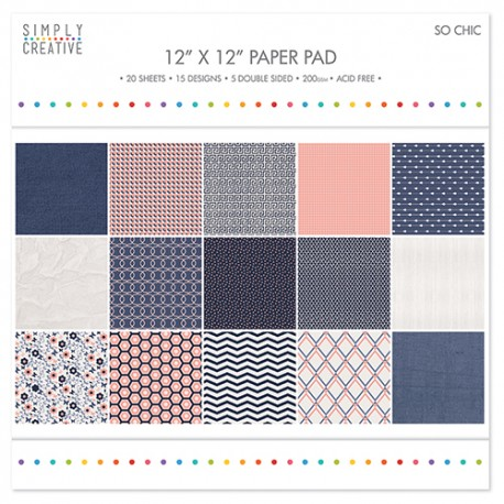 So chic 30x30 paper pad