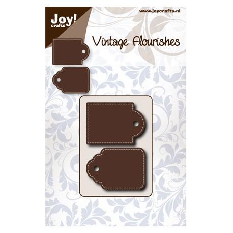 Troquel Vintage Flourishes - Etiquetas Bordes Cosidos