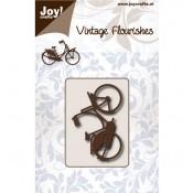 Troquel Vintage Flourishes - Bicicleta de Paseo