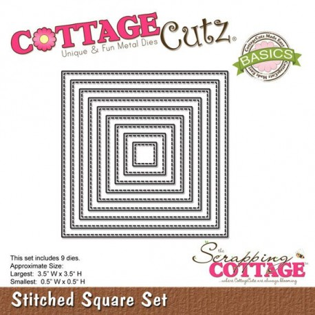 CottageCutz Stiched squares