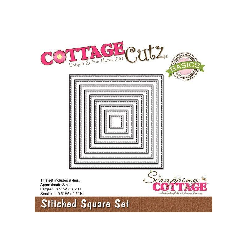 CottageCutz Stiched squares