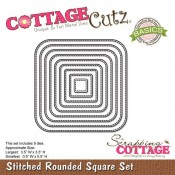 CottageCutz Stiched rounded squares