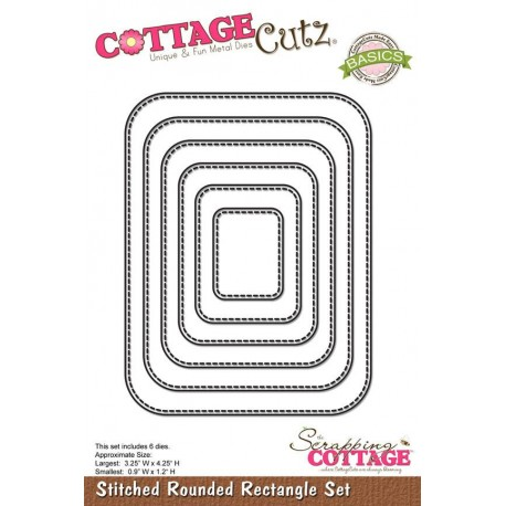 CottageCutz Stiched rounded rectangles
