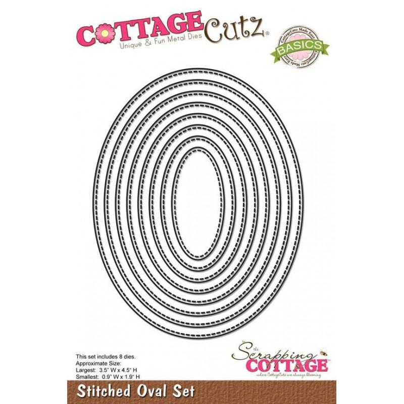 CottageCutz Stiched ovals