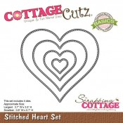 CottageCutz Stiched heart
