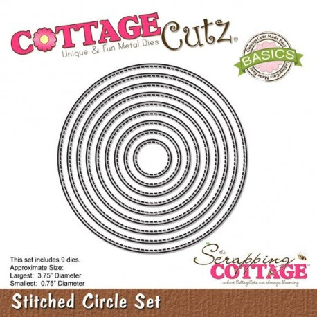 CottageCutz Stiched circle