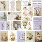 Elegance - Colección Juliet de Scrapberry's papel estampado para scrapbooking