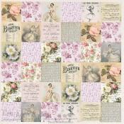 Mademoiselle - Colección Juliet de Scrapberry's papel estampado para scrapbooking