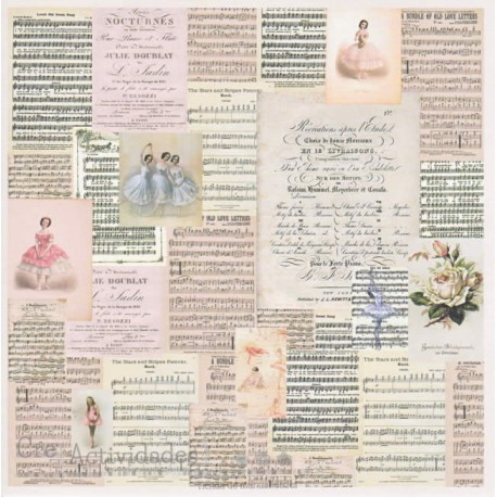 Poetry - Colección Juliet de Scrapberry's papel estampado para scrapbooking