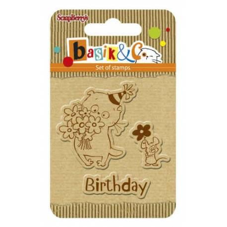 Sellos acrilicos Basik's New Adventure - Basik's Birthday