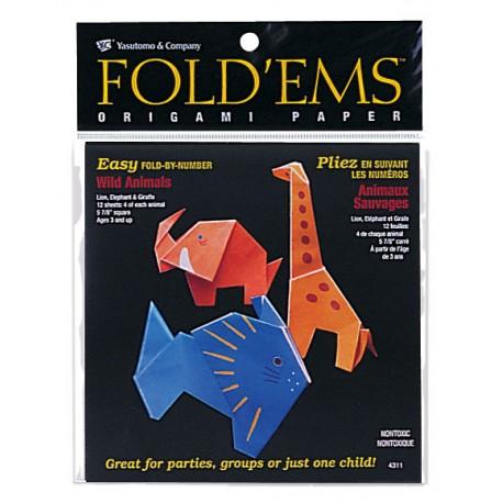 Surtido Origami Wild Animals