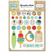 Beach Day Decorative Brads