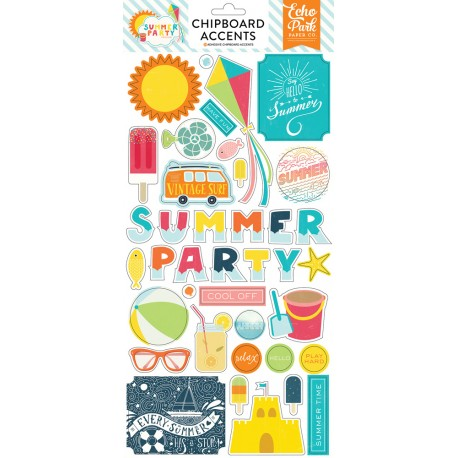 Summer Party Chipboard