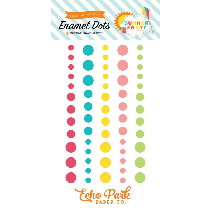 Summer Party Enamel Dots