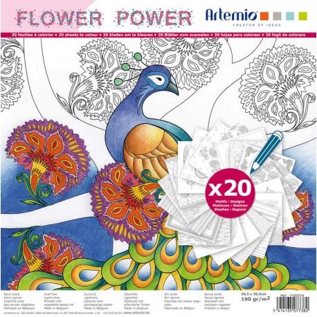Bloque Color - Flower power