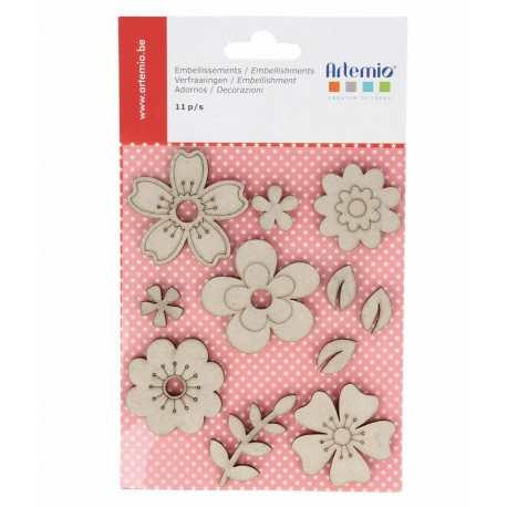 Chipboard Flores