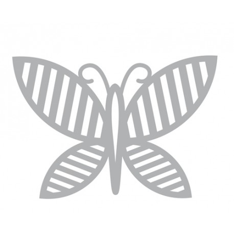 Troquel Nature Mariposa Rayas