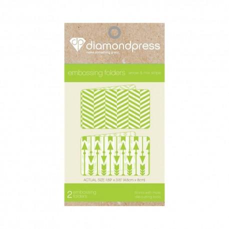 Diamond press - Embossing folder Arrow