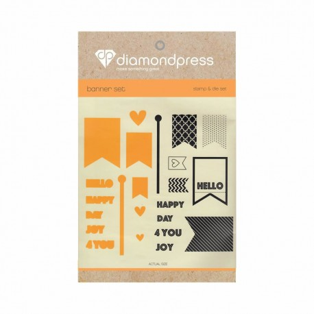 Diamond press - Stamp and dies Happy