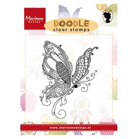 Sello Acrílico Doodle Butterfly