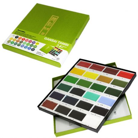 Acuarelas GANSAI TAMBI 24 Colores Set