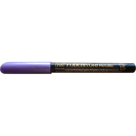 Rotulador punta flexible y acabado metalizado FUDEBIYORI METALLIC Violet
