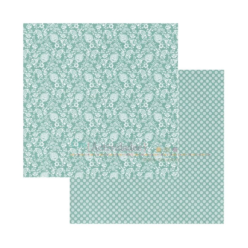 Cartulina decorada para scrapbooking de Scrapberrys Summer Joy - Flowering wine