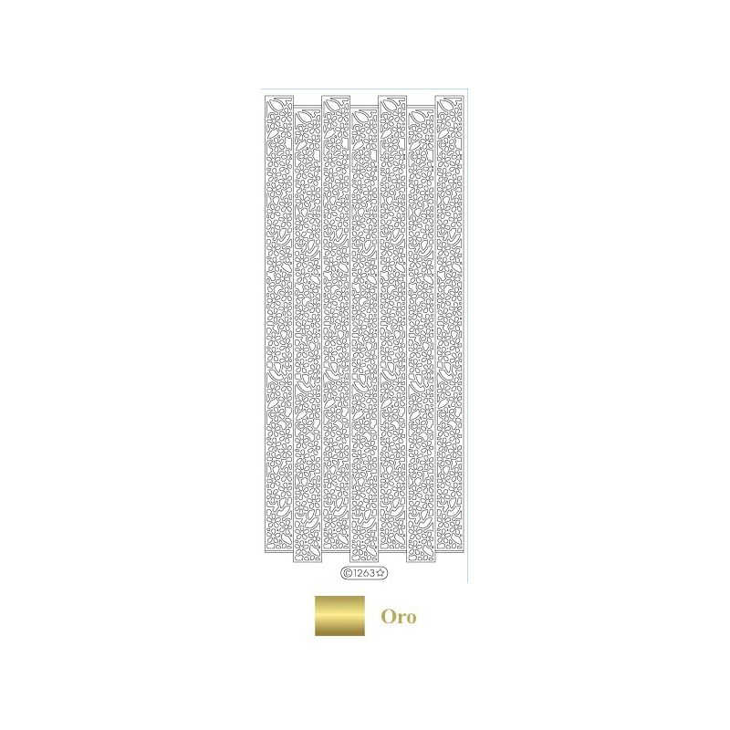 Peel Off - Friso Floral Oro