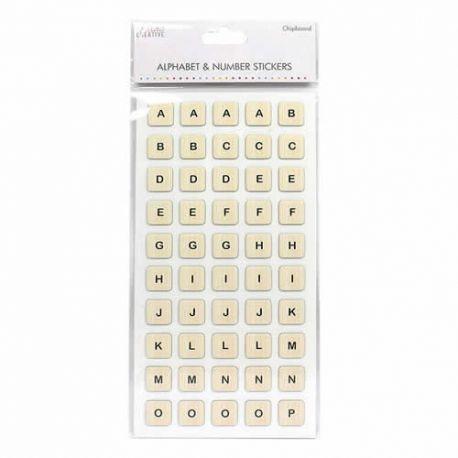 Pegatinas Alfabéticas Scrabble