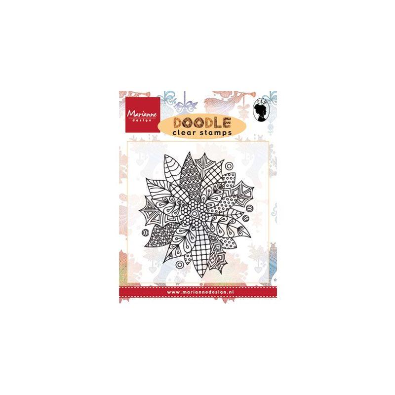 Sello Acrílico Doodle Poinsettia de Marianne Design