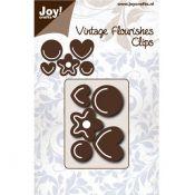 Troquel Joy Crafts Vintage Flourishes Corazones flor