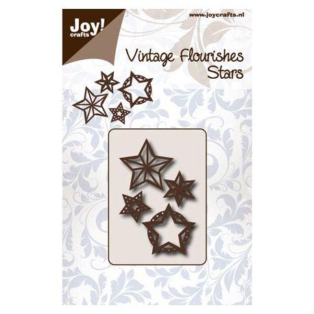 Troquel Vintage Flourishes Estrellas