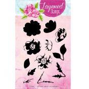 Set Sellos Acrilicos Capas Flores 4