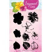 Set Sellos Acrilicos Capas Flores 6