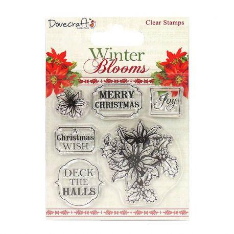 Sellos acrilicos Winter Blooms Poinsetias