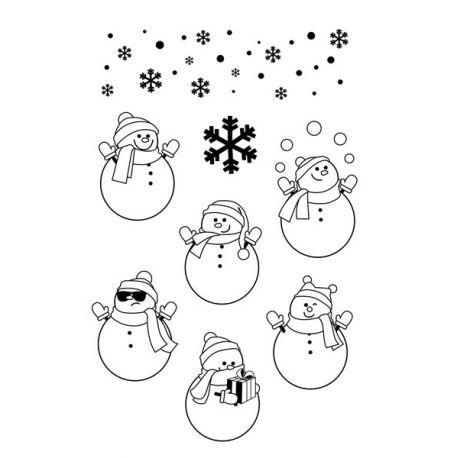Sellos Acrílicos Muñecos de nieve Artemio