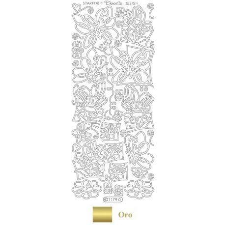 Peel Off - Mariposas Doodle Oro
