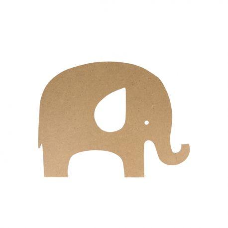 Silueta Elefante Mediana Artemio en DM para decorar