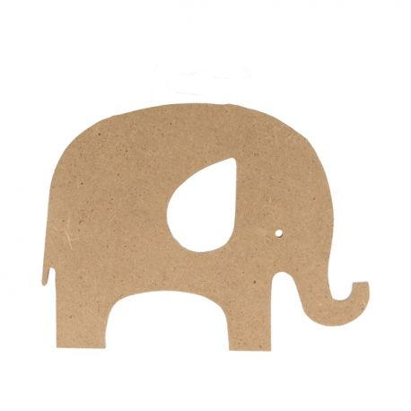 Silueta Elefante Grande Artemio en DM para decorar