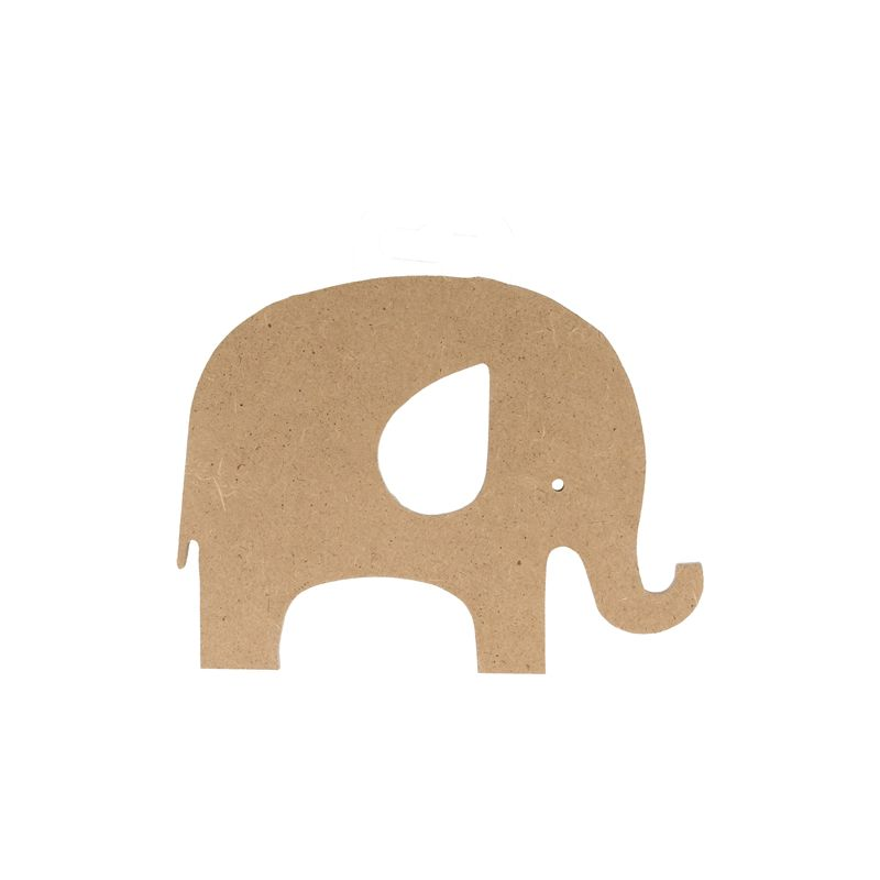 Sllueta en dm elefante grande para decorar creactividades - Madera para decorar ...