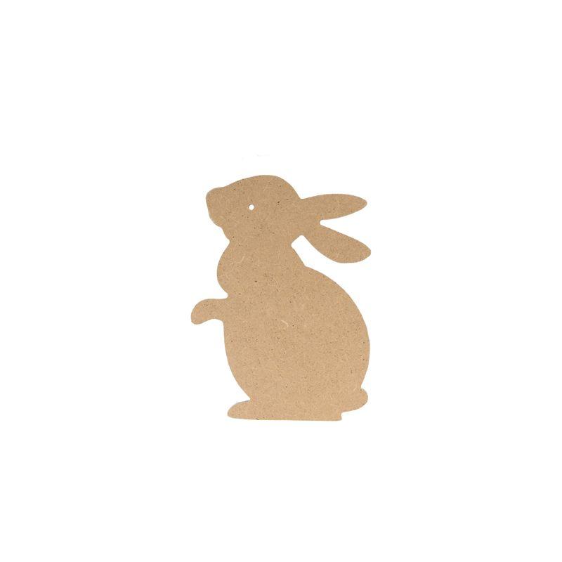 Sllueta en dm conejo mediana para decorar creactividades - Siluetas madera infantiles ...