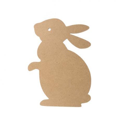Silueta Conejo Grande Artemio en DM para decorar