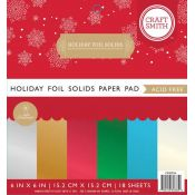 Holiday Foil Solids 6x6 paper pad Craft Smith