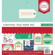 Cuaderno con cartulinas estampadas para scrapbooking Christmas Tags